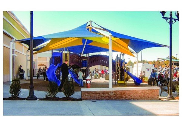 Sand Dollar Sail Fabric Shade Structure with 8 Ft. Entry Height