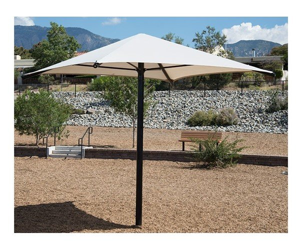 Square Fabric Umbrella Shade Structure With 8 Ft. Height