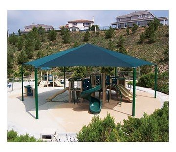 Hexagonal Fabric Hip End Shade Structure with 10 Ft. Entry Height