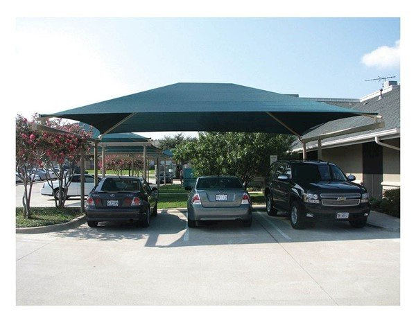 Standard Fabric Cantilever Shade Structure with 9 Ft. Entry Height and Glide Elbows