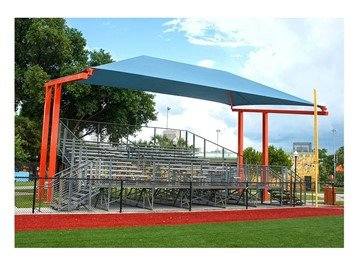 Standard Fabric Cantilever Shade Structure with 8 Ft. Entry Height and Glide Elbows