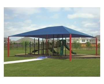 Rectangle Fabric Hip End Shade Structure With 10 Ft. Entry Height