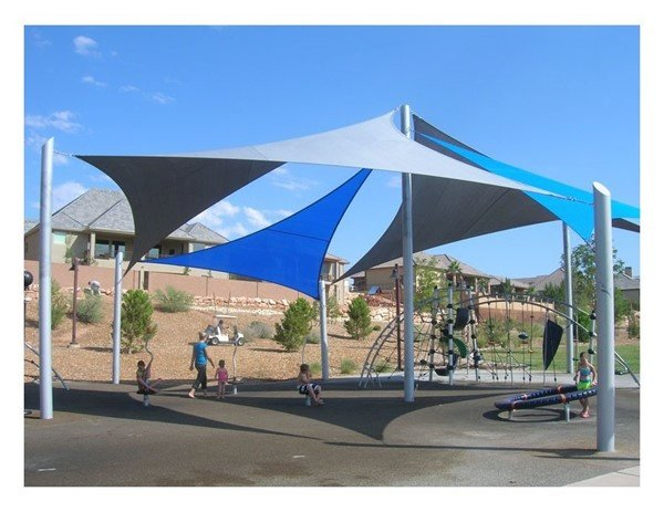 Custom Sail Fabric Shade Structure With Engineering Drawings