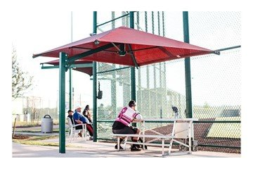 Square Fabric Cantilever Umbrella Shade Structure with 10 Ft. Height