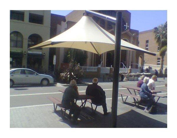 10' X 13' Rectangular Waterproof Vista Cantilever Umbrella Shade Structure With Steel Post