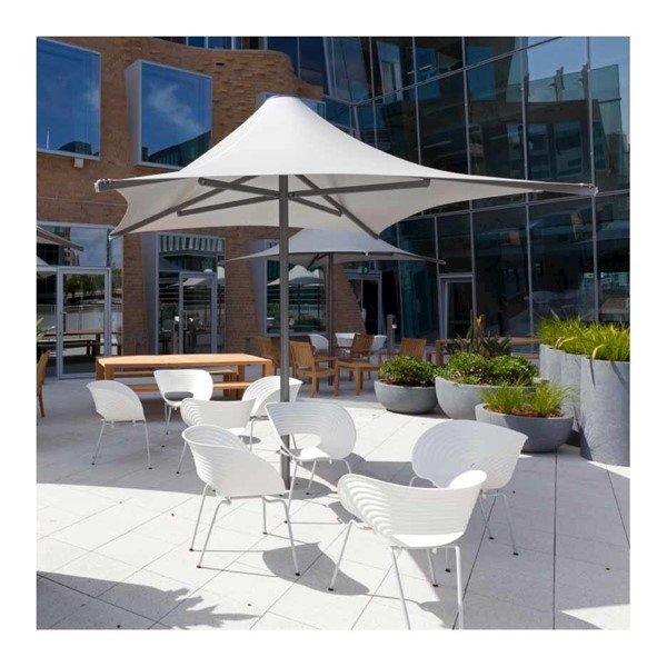 Square Waterproof Umbrella Shade Structure With Aluminum Frame