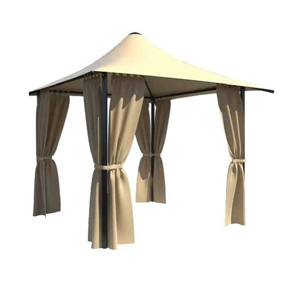 Commercial Grade Cabana Shade Structure With Waterproof Canopy And Steel Frame - 10', 12', Or 13'
