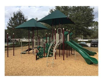 Custom Modular Shade Structure for Playground Equipment - Square