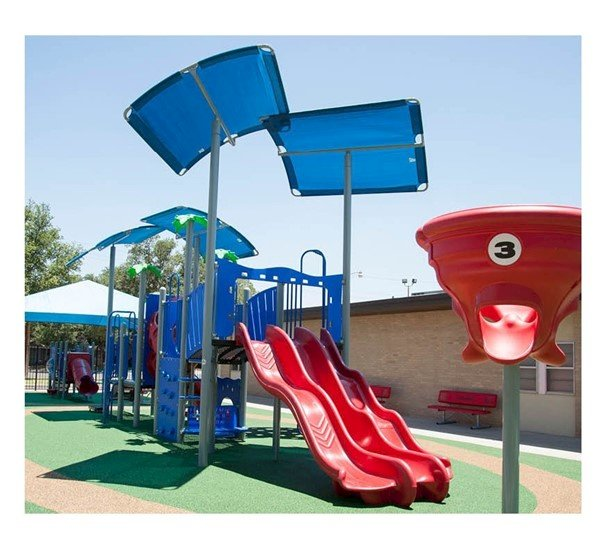 Custom Modular Crescent Shade Structure For Playground Equipment With Engineering Drawings
