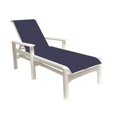 Cape Code Sling Chaise Lounge With Marine Grade Polymer Frame