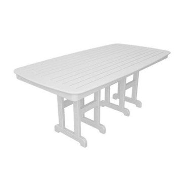 """72"""" x 37"""" Rectangular Nautical Recycled Plastic Dining Table from Polywood"""