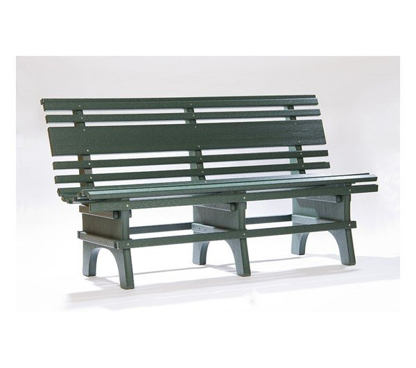 St. Pete Famous Recycled Plastic Green Park Bench