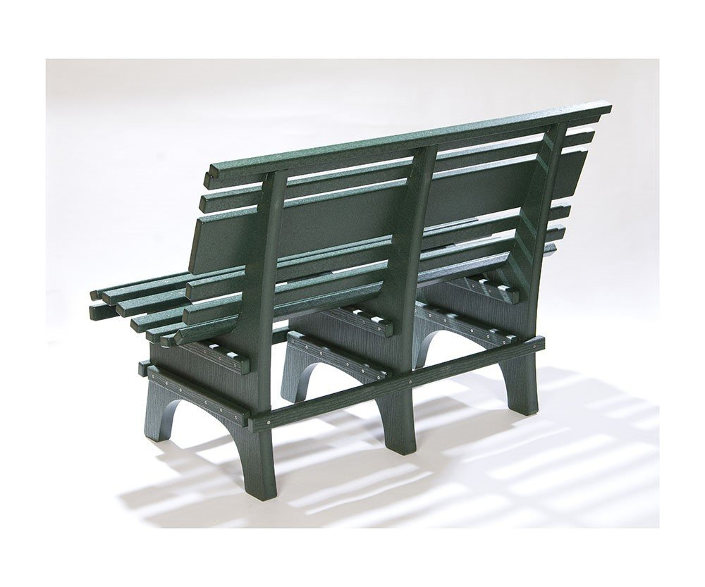 St Pete Famous Recycled Plastic Green Park Bench