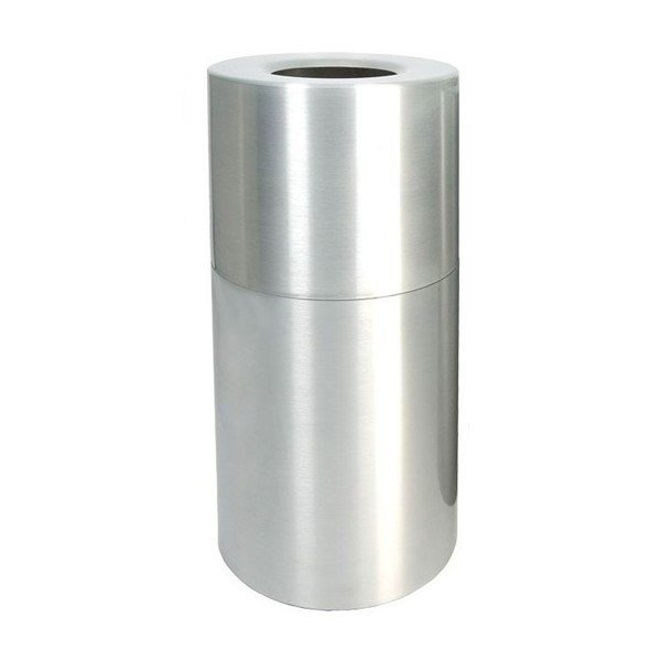 35 Gallon Heavy Gauge Aluminum Receptacle With Plastic Liner