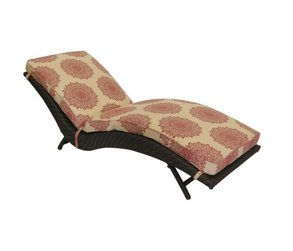 Palmer Cushion S Chaise Lounge With Wicker Covered Aluminum Frame