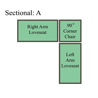 Palmer Cushion Sectional: Option A