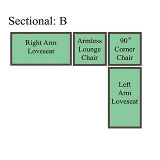 Palmer Cushion Sectional: Option B