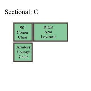 Palmer Cushion Sectional: Option C