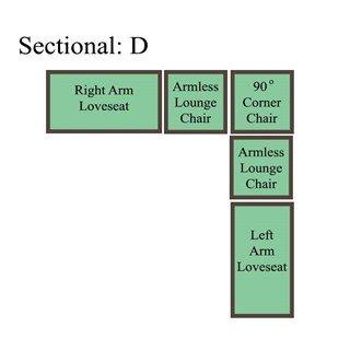 Palmer Cushion Sectional: Option D