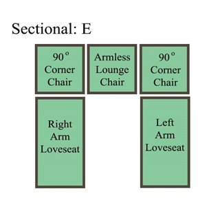 Palmer Cushion Sectional: Option E