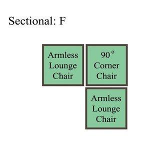 Palmer Cushion Sectional: Option F