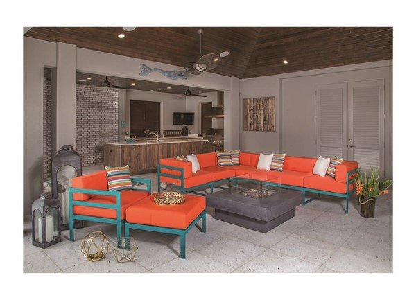 South Beach Modular Deep Cushion Seating Sectional Collections
