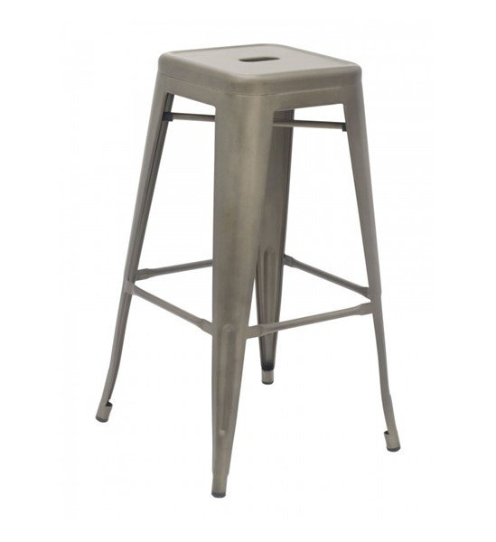 Interior Industrial Metal Bar Stool For Restaurants