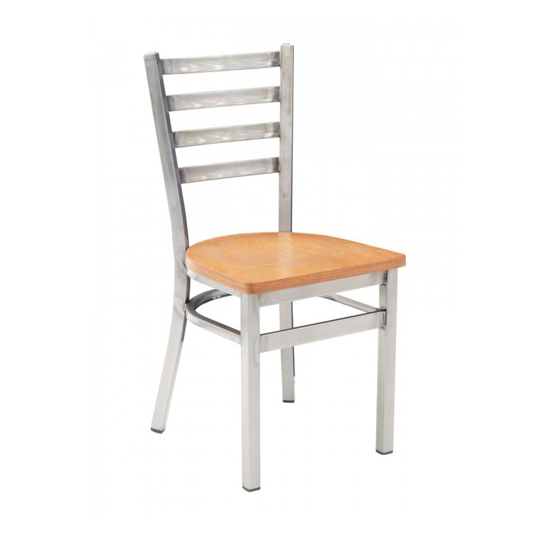 ... Metropolitan Interior Restaurant Dining Chair With Metal Frame And  Wooden Or Vinyl Upholstered Seat   14 ...