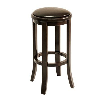 Interior Wooden Commercial Pub Barstool With Vinyl Upholstered Seat