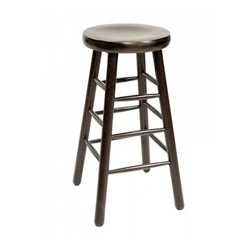 Interior Wooden Saddle Barstool With Wooden Seat