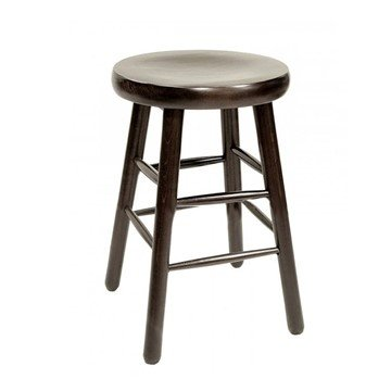 Interior Wooden Traditional Saddle Barstool With Wood Seat