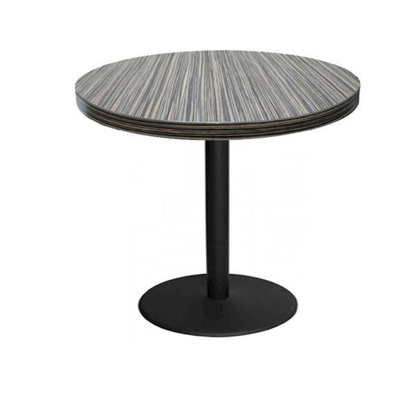 Indoor Restaurant Dining Table with Marco Top and Round Stamped Steel Base