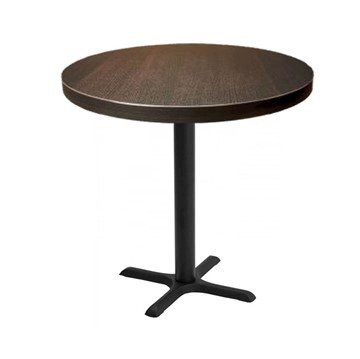 "Indoor Restaurant Bar Height Table with Marco Top and X Stamped Steel Base - 24"", 30"", or 36"""