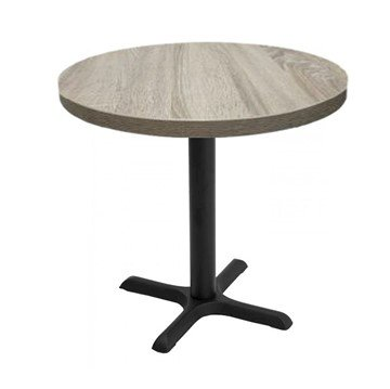 Indoor Restaurant Dining Table with Marco Top and X Stamped Steel Base