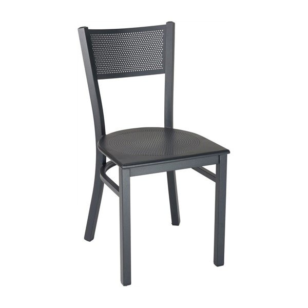 Domino Restaurant Interior Metal Dining Chair