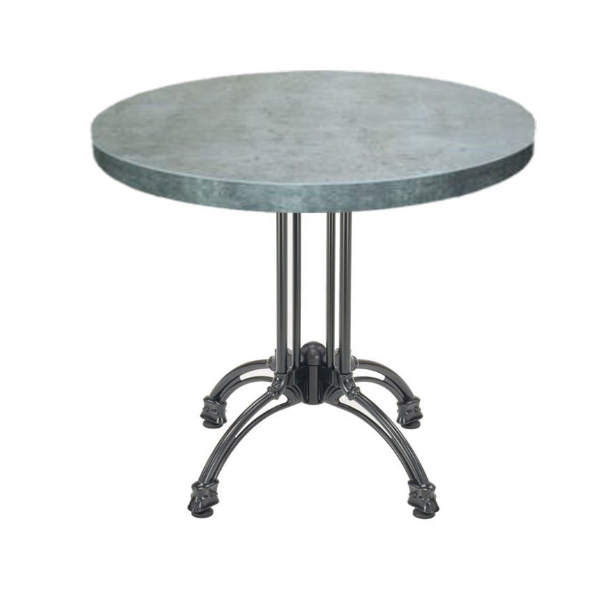 Indoor Restaurant Dining Height Table with Marco Top and X Cast Iron ...