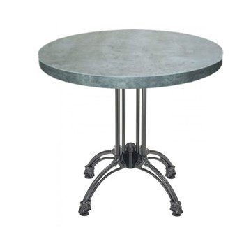 Indoor Restaurant Dining Height Table With Marco Top And Modern Cast Aluminum Base