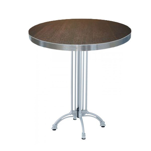 Indoor Restaurant Bar Height Table With Marco Top And Modern Cast Aluminum Base