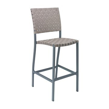 Uptown Outdoor Armless Restaurant Bar Height Chair With Aluminum Frame And  Mesh Belt Seat