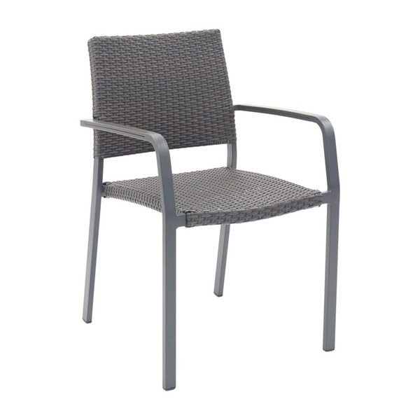 Trade Winds Outdoor Restaurant Dining Chair With Stackable Aluminum Frame And PE Weave Seat