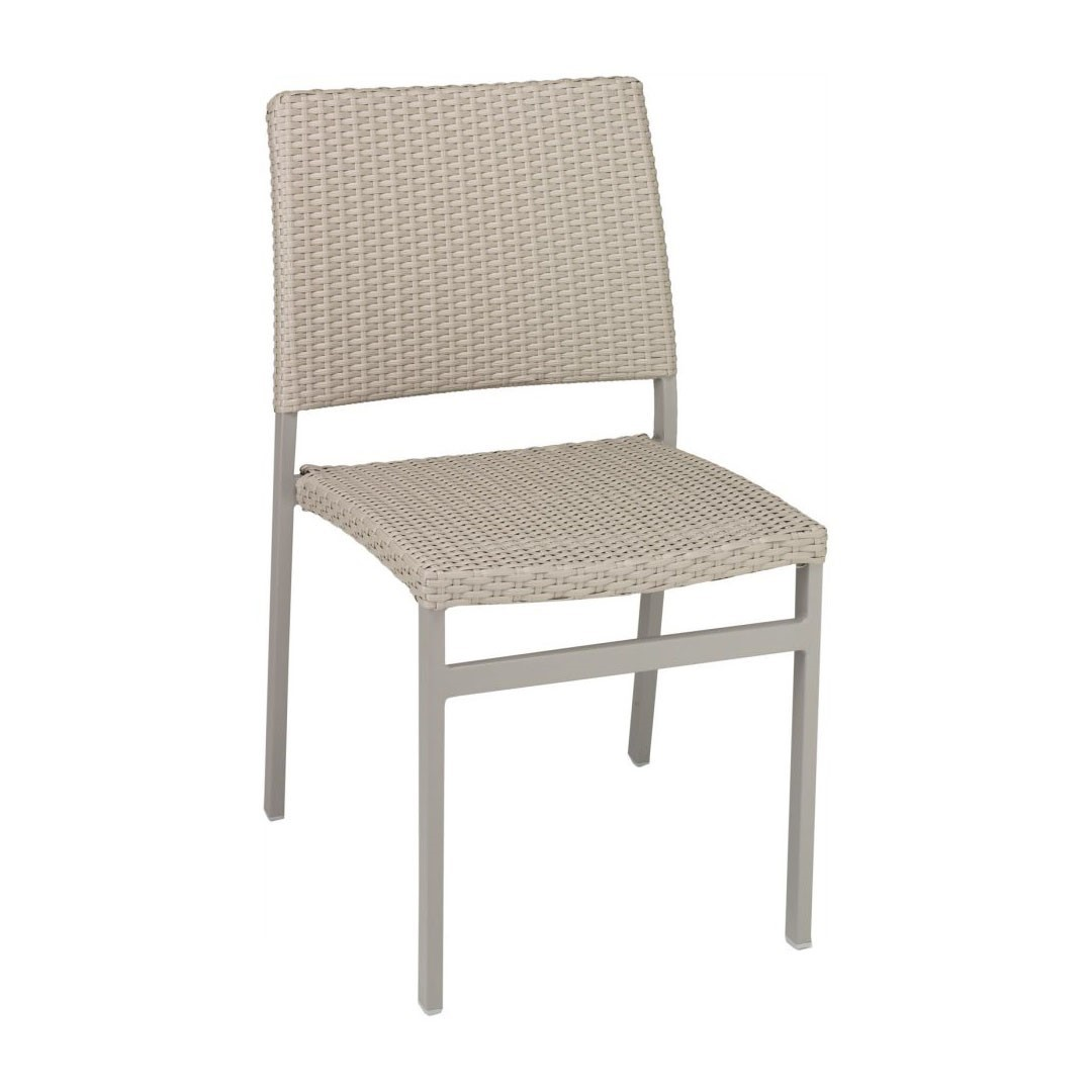 ... Trade Winds Outdoor Armless Restaurant Dining Chair With Stackable Aluminum Frame And PE Weave Seat  sc 1 st  Furniture Leisure & Trade Winds Outdoor Armless Restaurant Dining Chair With Stackable ...