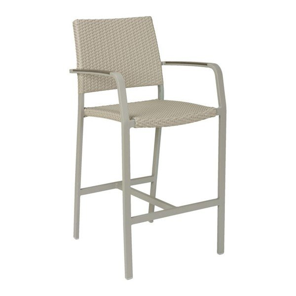 Trade Winds Outdoor Restaurant Bar Height Chair With Aluminum Frame And PE Weave Seat