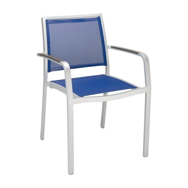 Candor Outdoor Restaurant Dining Chair With Stackable Aluminum Frame And Sling Seat