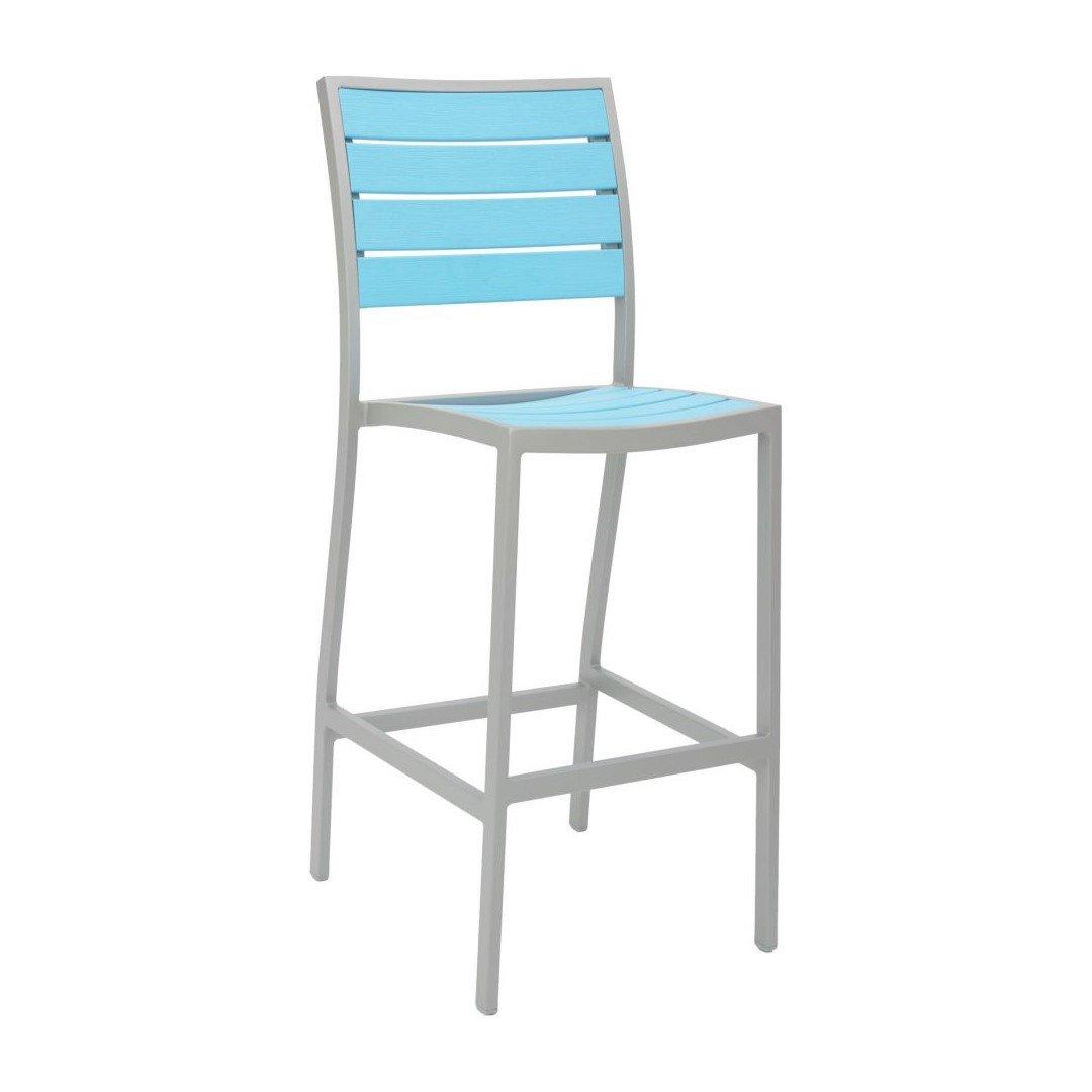 Tropical breezeway outdoor restaurant bar height chair for Tropical home bar furniture