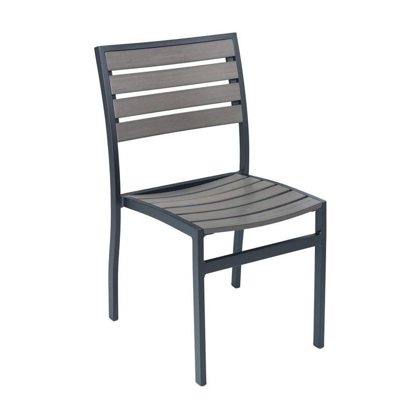 Classic Breezeway Outdoor Armless Restaurant Dining Chair