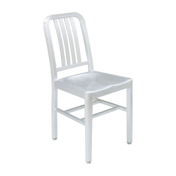 Exterior Industrial Metal Restaurant Dining Chair With Aluminum Frame