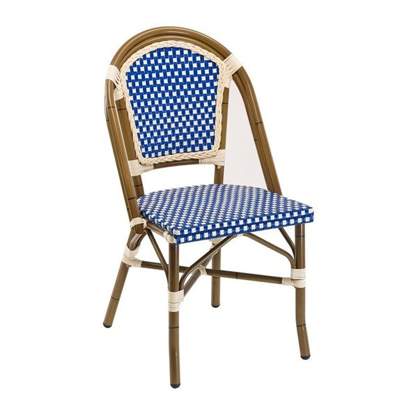 Fiji Outdoor Restaurant Chair With Aluminum Frame And PE Weave Seat