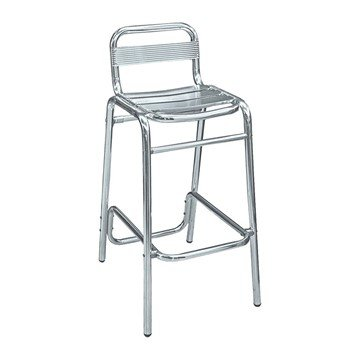 Brewhouse Industrial Metal Outdoor Armless Restaurant Bar Height Chair With Aluminum Frame