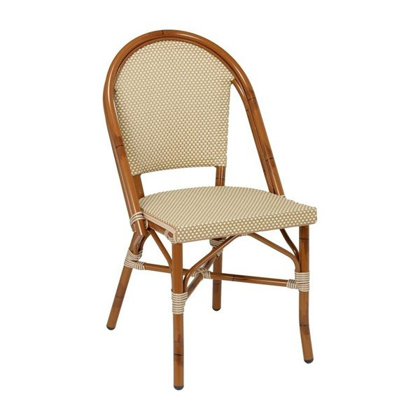 Bistro Outdoor Restaurant Dining Chair With Aluminum Frame And Sling Seat