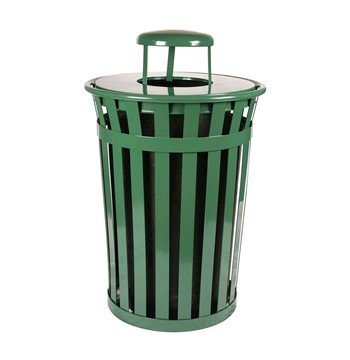 36 Gallon Steel Powder Coated Trash Can w/ Liner - 95 Lbs.